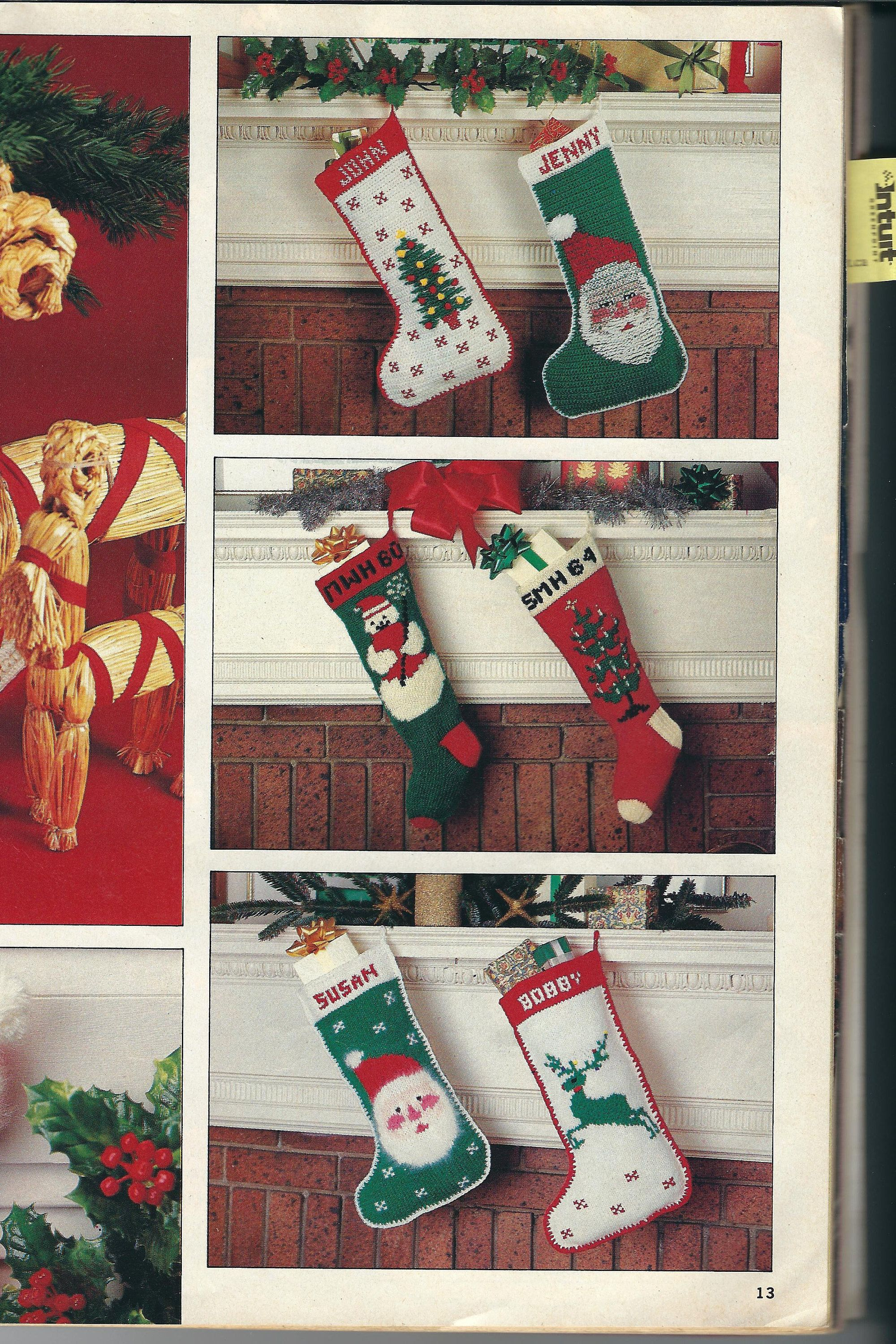Christmas Stockings with names to crochet and knit by Followlight on ...