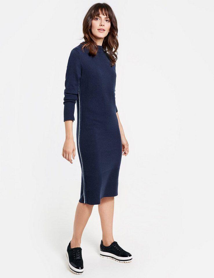 ba028078deb25e GERRY WEBER Kleid Strick »Strickkleid mit Galonstreifen« für 119,99€. Beste  Materialzusammensetzung, Hochwertige Verarbeitung bei OTTO