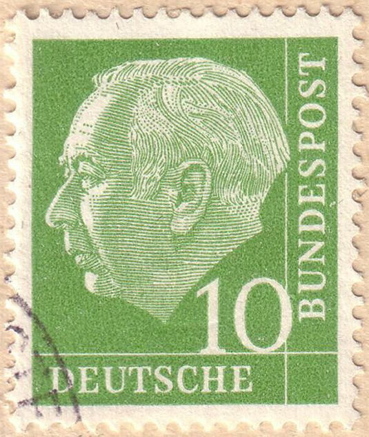 Deutsche_Bundespost__Theodor_Heuss_1954 Postage stamps