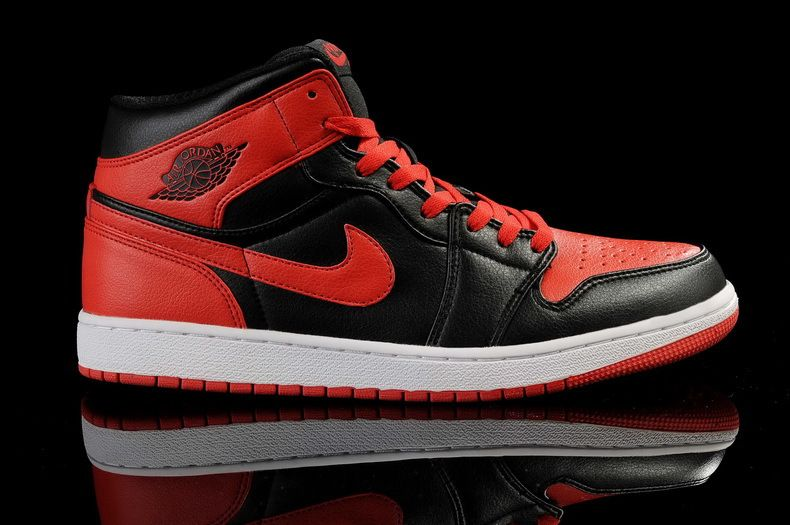 original air jordan shoes black and red