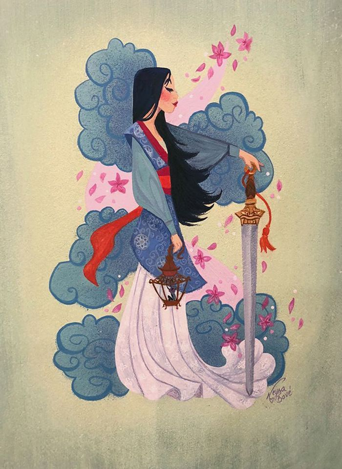 You Must Check Out These Amazing Works of Art From the Gallery Nucleus Exhibition Celebrating 20 Years of Mulan #disney