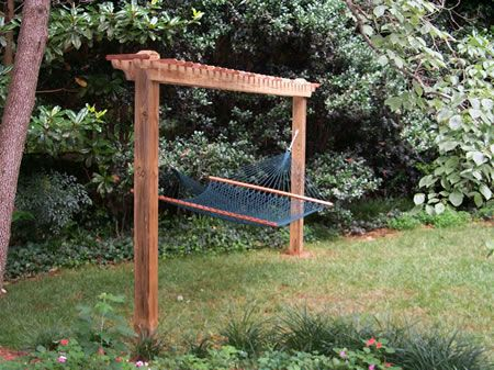 Medium image of 2 post trellis style hammock stand