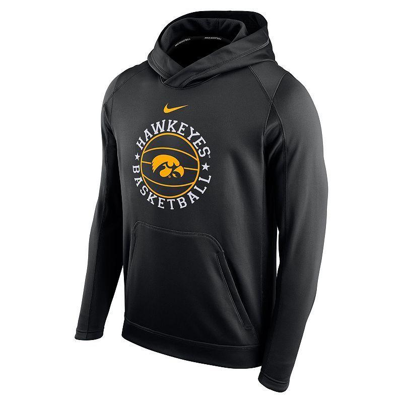 Men's Nike Iowa Hawkeyes Therma-FIT Circuit Hoodie, Black
