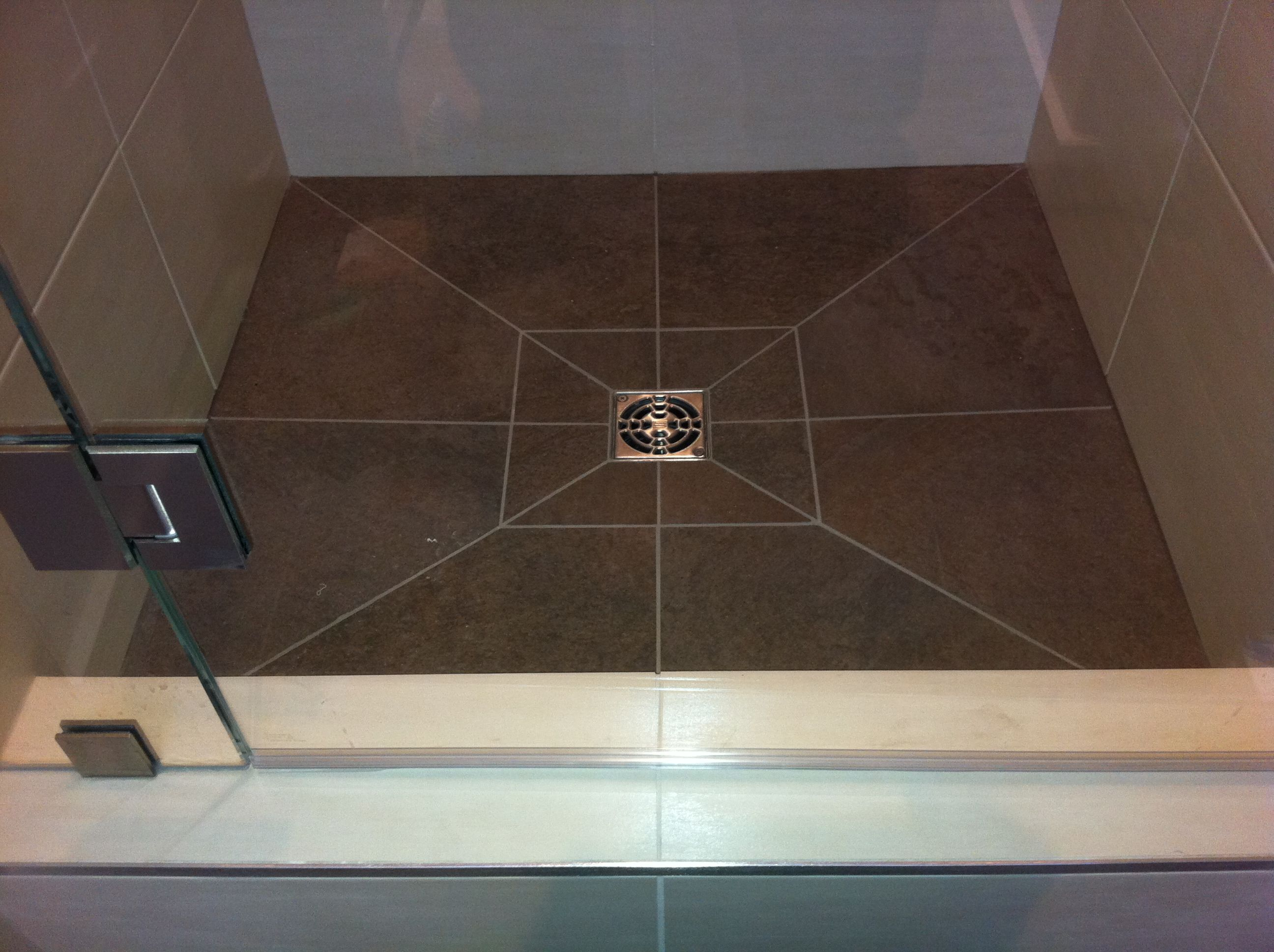 Schluter Profiles-edge trim on tile | Bathroom | Pinterest | Shower ...