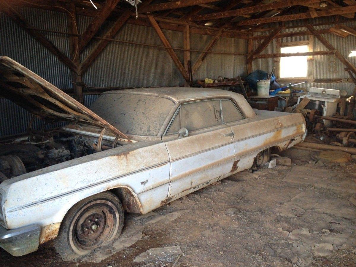 42 Year Barn Find 1964 Chevrolet Impala Barn Find Cars Barn