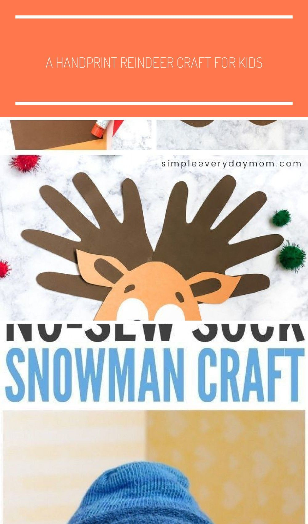 This handprint reindeer is a fun DIY Christmas craft for kids to make. It's easy enough for toddler