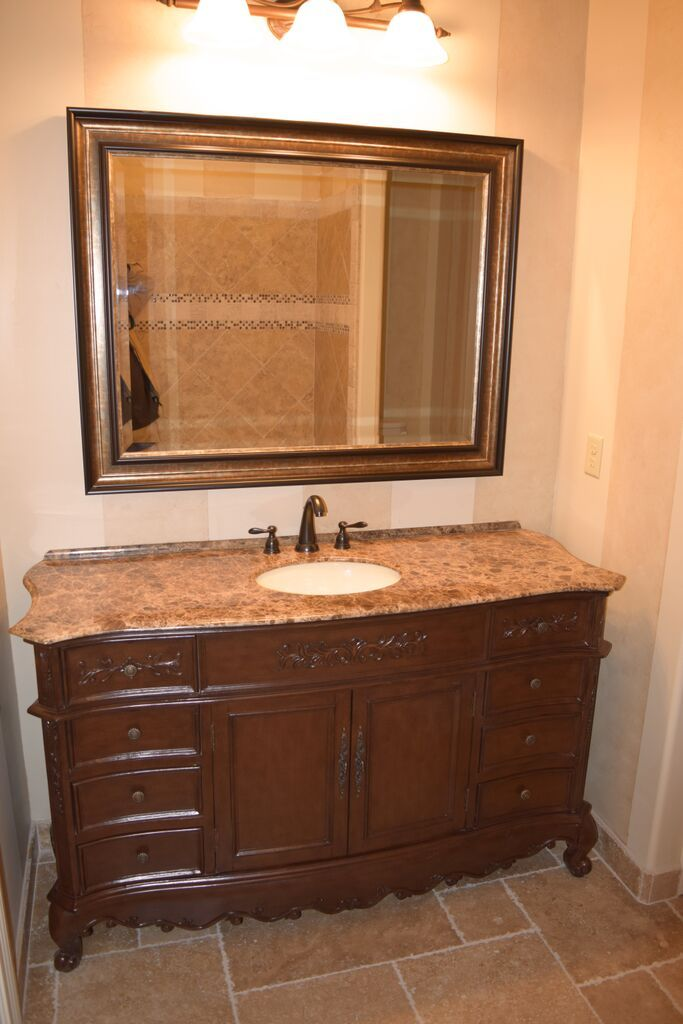 An Isabella Dark From L K Designs After An Install In A New Bathroom This Collection Has Vanity Cabinets Design Remodel Bathroom Design Bathroom Renovations