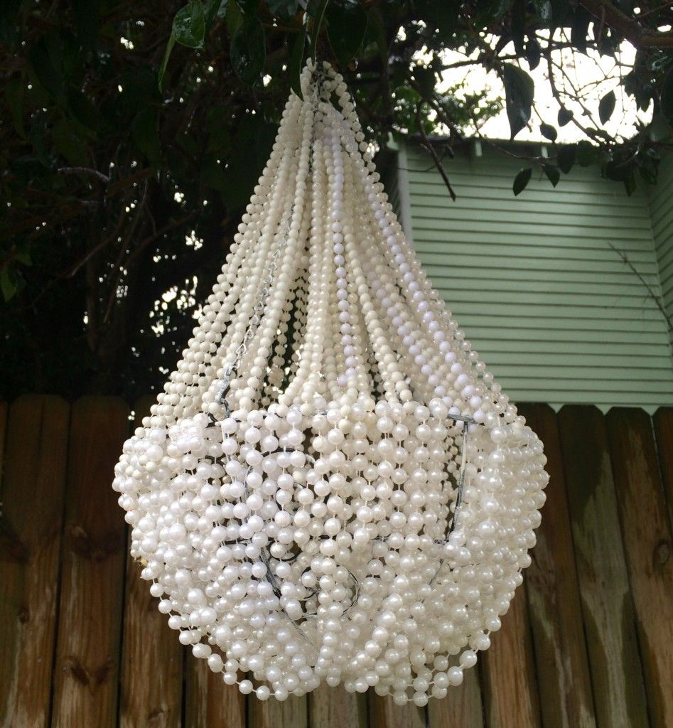DIY Bead Chandelier | Wire chandelier, Beaded chandelier ...