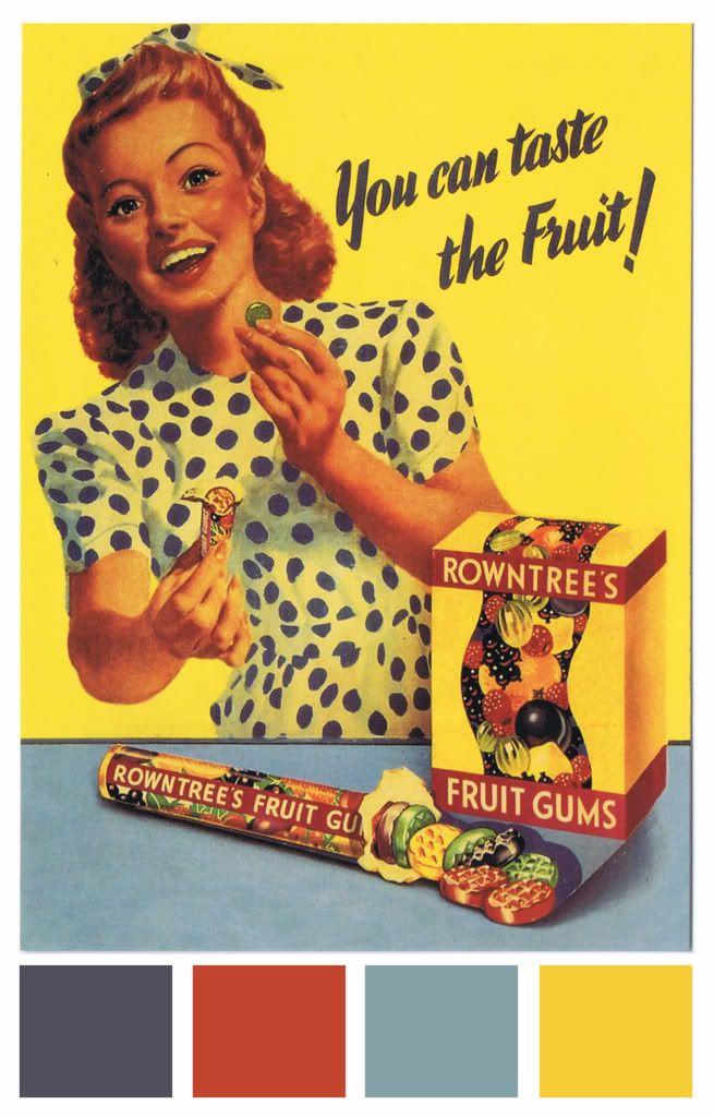 50 S Commercial Rowntrees Fruit Gums Fruit Gums Vintage Advertisements