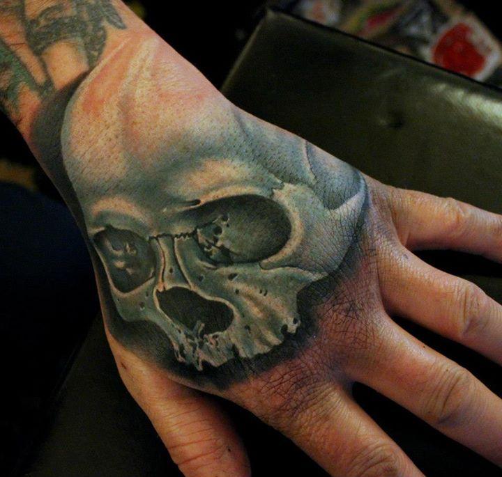 Colour Skull Tattoo By Phatt German Tattoo Tattoos Cheltenham