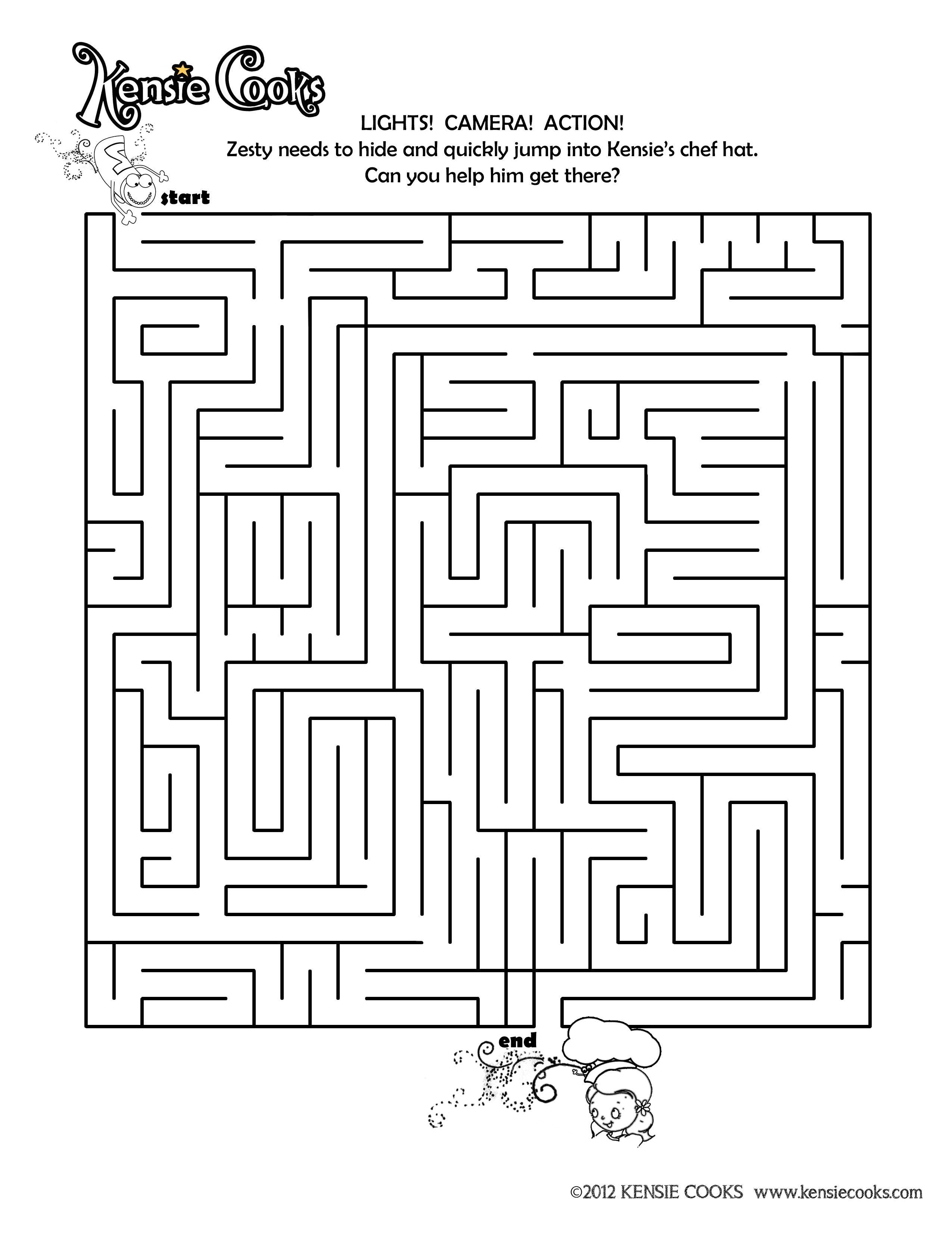 Kensie Cooks Maze Quick Kids Help Zesty Find His Way