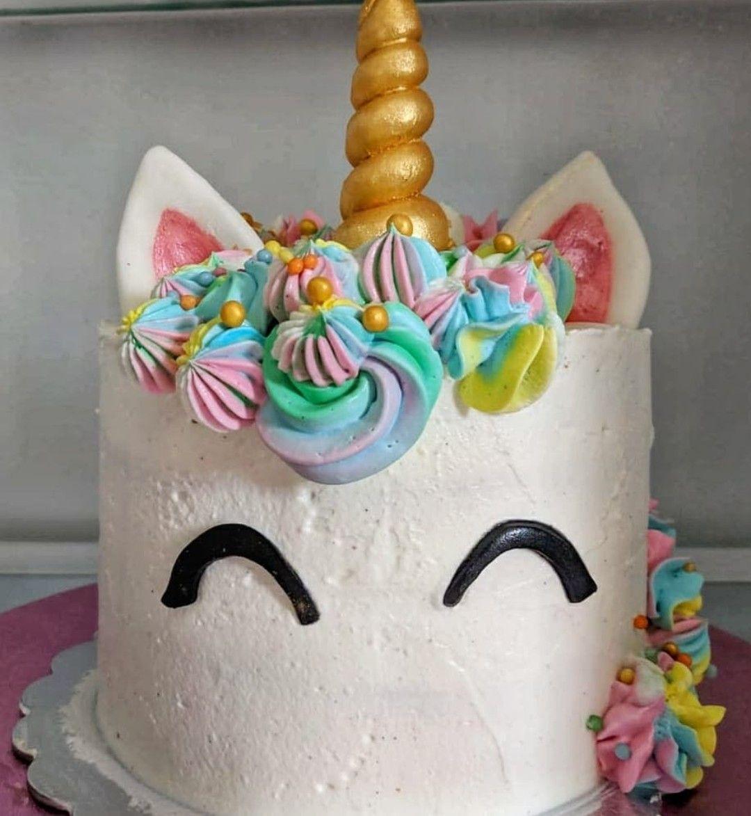 torta unicorno con crema mascarpone e panna