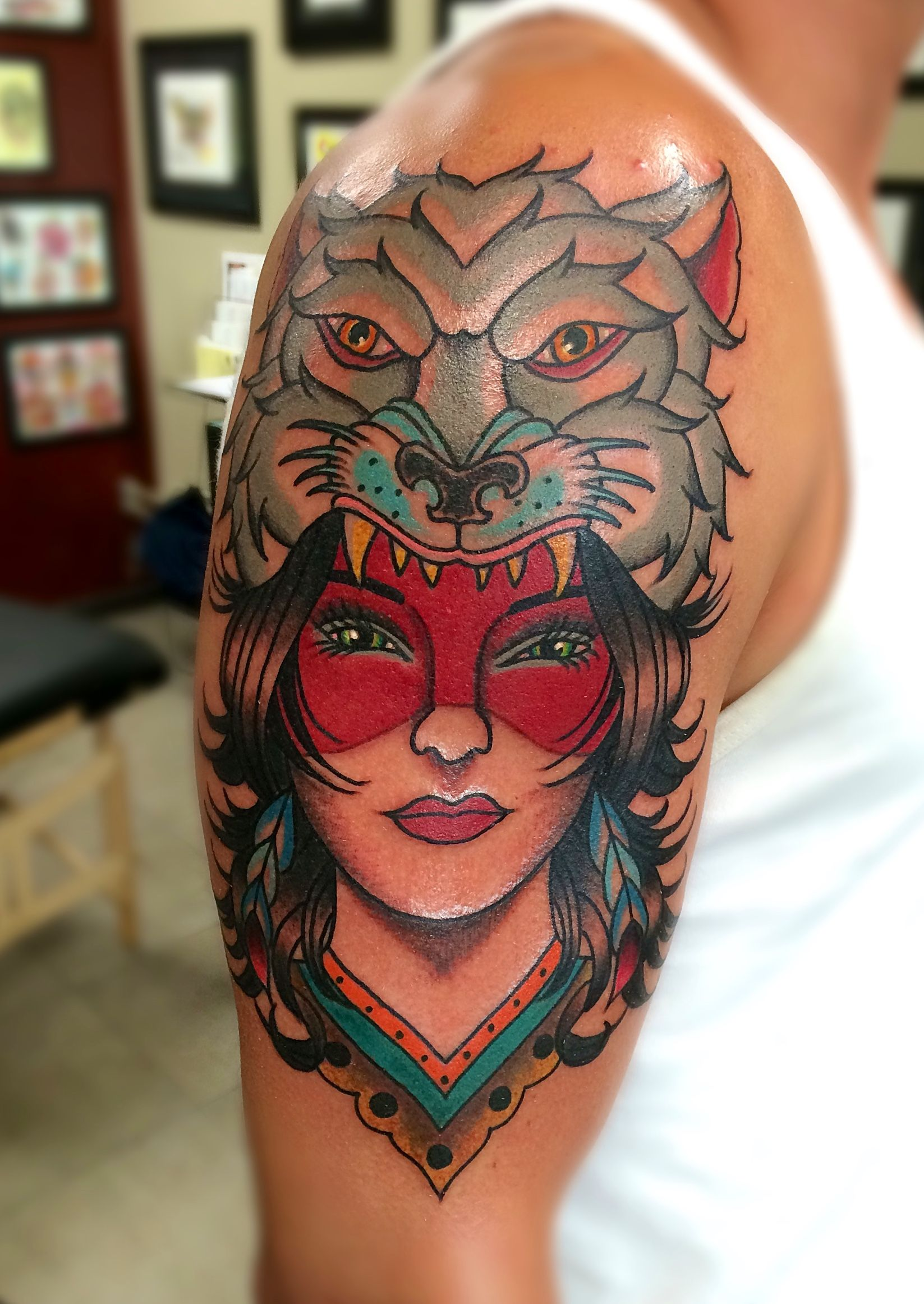 Bright Bold Colorful Tattoos Traditional Traditional Tattoo Color Tattoo Polynesian Tattoo
