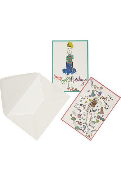 Lanvin | Happy Holidays set of 10 notecards | NET-A-PORTER.COM