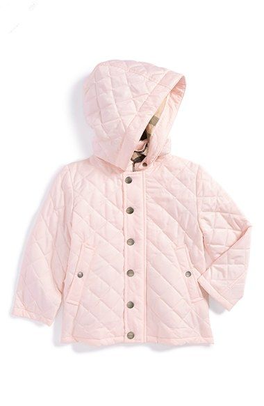 Burberry Hooded Quilted Jacket (Baby Girls) available at ... : baby quilted coat - Adamdwight.com