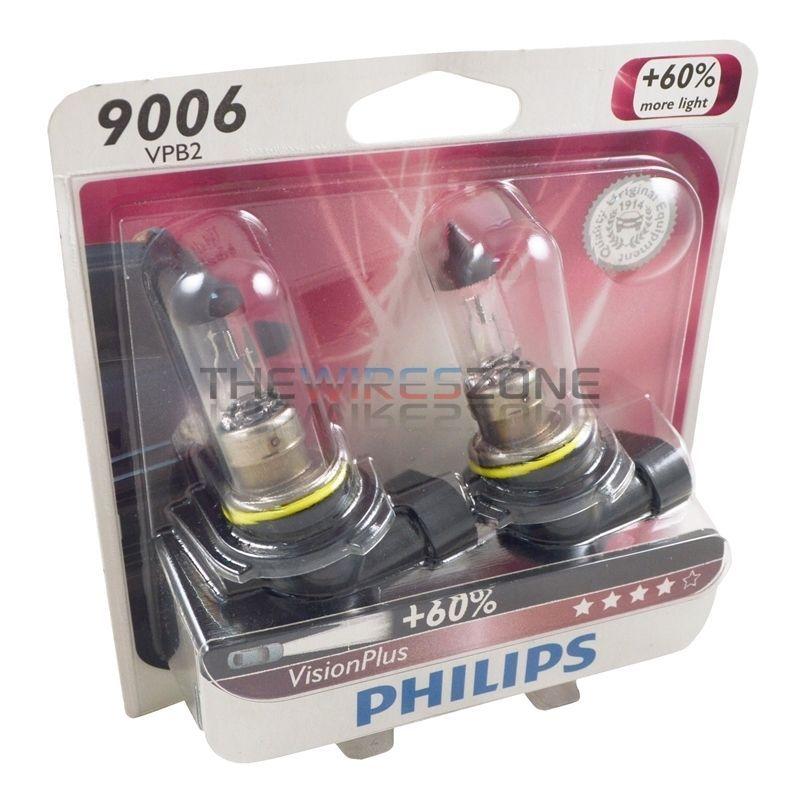 Philips Vision Plus 9006 55w 60 More Light Halogen Car Headlight