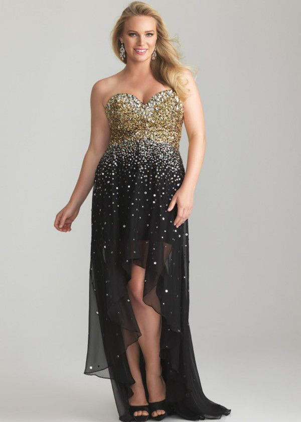 Black And Gold Party Dress Plus Size U2013 Dress And Bottoms