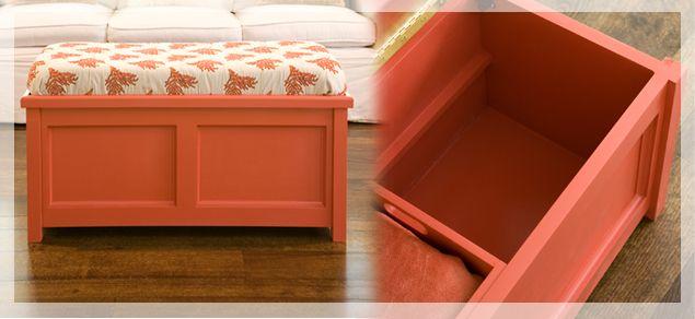 Love This DIY Storage Bench.