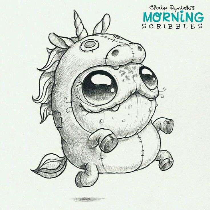 Drawing By Chris Ryniak Inspiration Drawings Cute Monsters