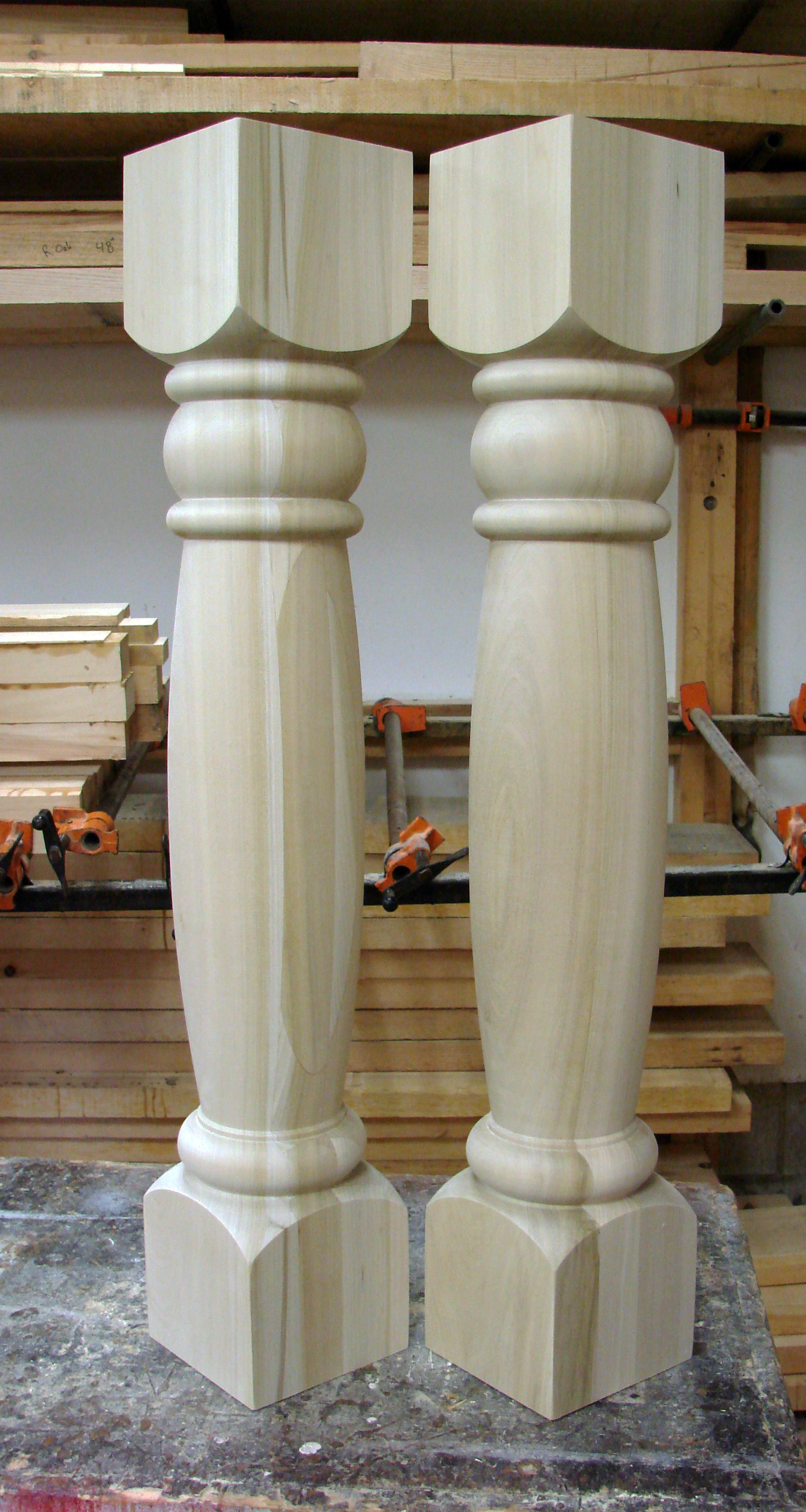 Custom Kitchen Island Legs 6 X 36 Poplar Legs To Be Painted Farm Style Kitchen Wood Turning Wood Creations