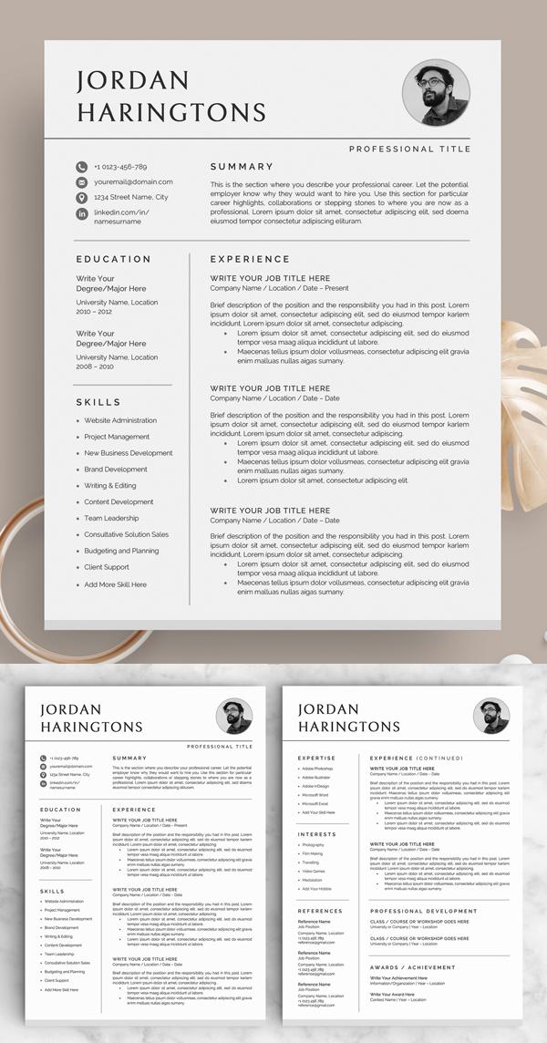 50 Best Cv Resume Templates In 2020 Minimal Resume Template Resume Design Template Resume Templates