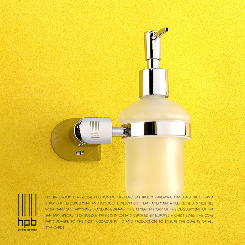 BULUXE Brass Bathroom Accessories Liquid Soap Dispenser Wall Mounted ...