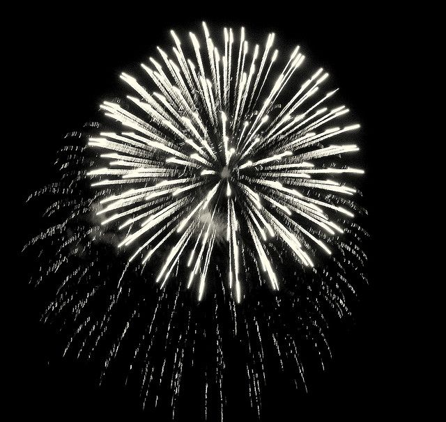 Fireworks In Black And White An Amazing Explosion Of Color Too Fireworks Photography Fireworks Photo Fireworks