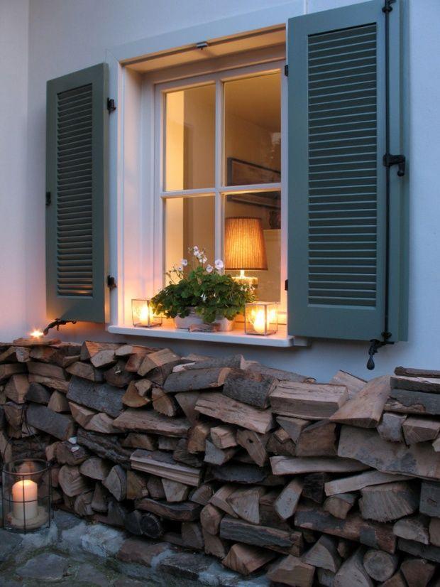 Holzfenster Moderner Landhausstil Einrichtung Fassade