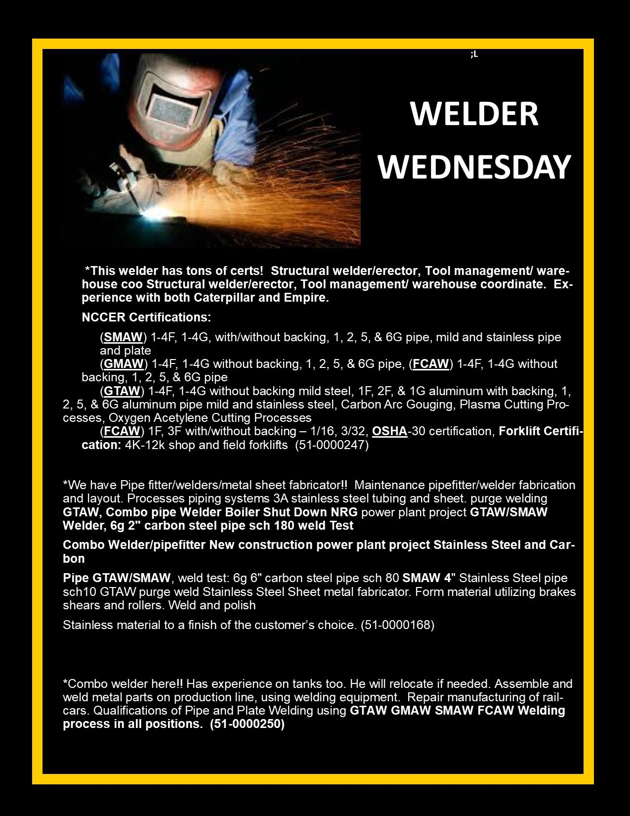 Pin by HOT HOT STAFFING on welders resumes | Resume