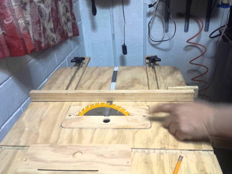 Sierra de mesa casera herramientas y maquinas for Mesa herramientas