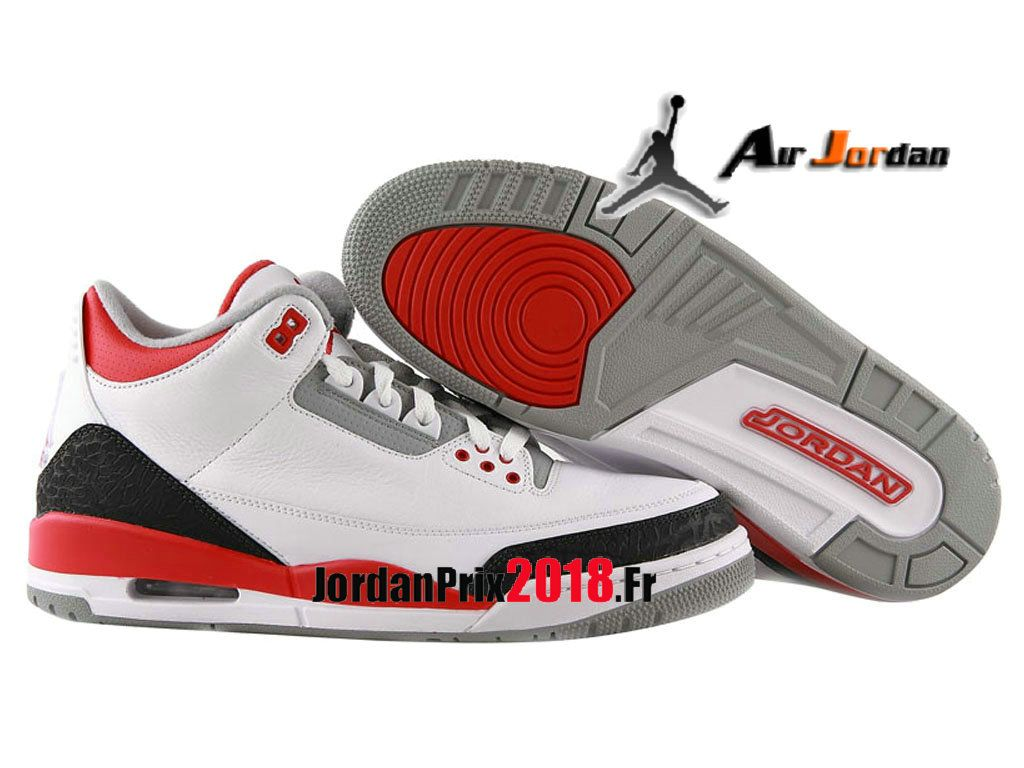 wholesale dealer 3538c a93a9 Chaussure Basket Jordan Prix Pour Femme Air Jordan 3 Retro GS Rouge feu  429487 120-Nike