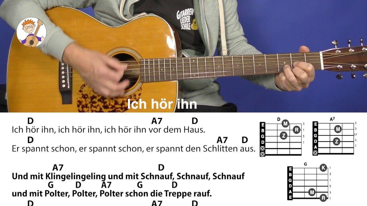 Ich hör ihn, Nikolauslied mit Akkorden & Text für Gitarre – Silvia