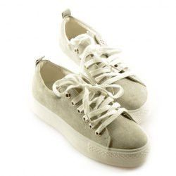 Preppy Style Women's Flat Shoes With Lace-Up and Solid Color Design