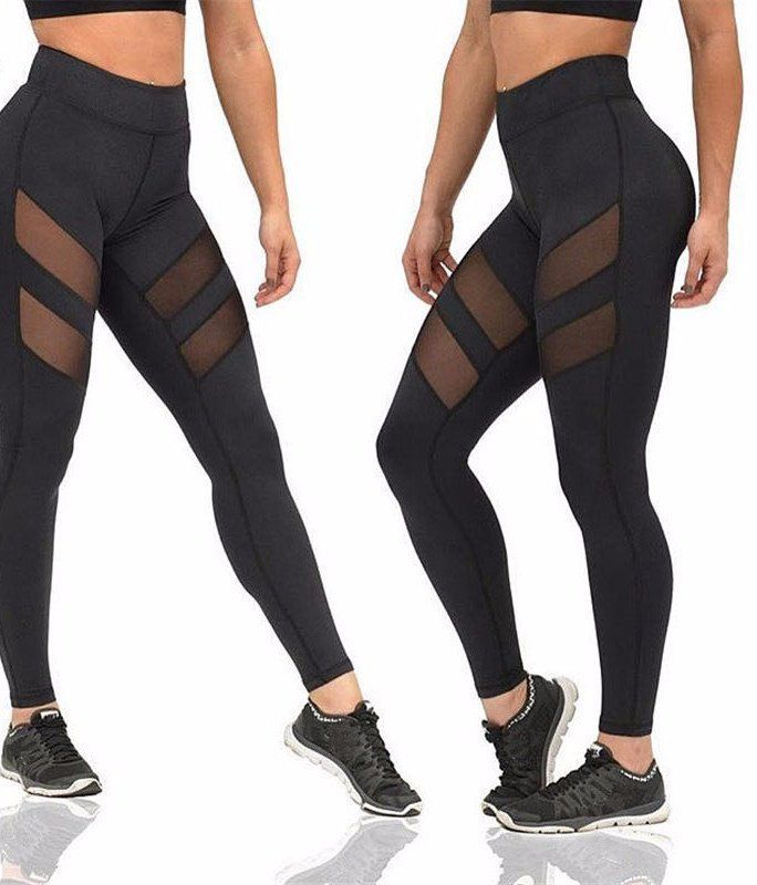 23872e77812c5 Our mesh workout leggings are an edgy, re-worked design that improves on  the classic yoga pant. These amazing leggings feature two mesh cut outs on  each ...