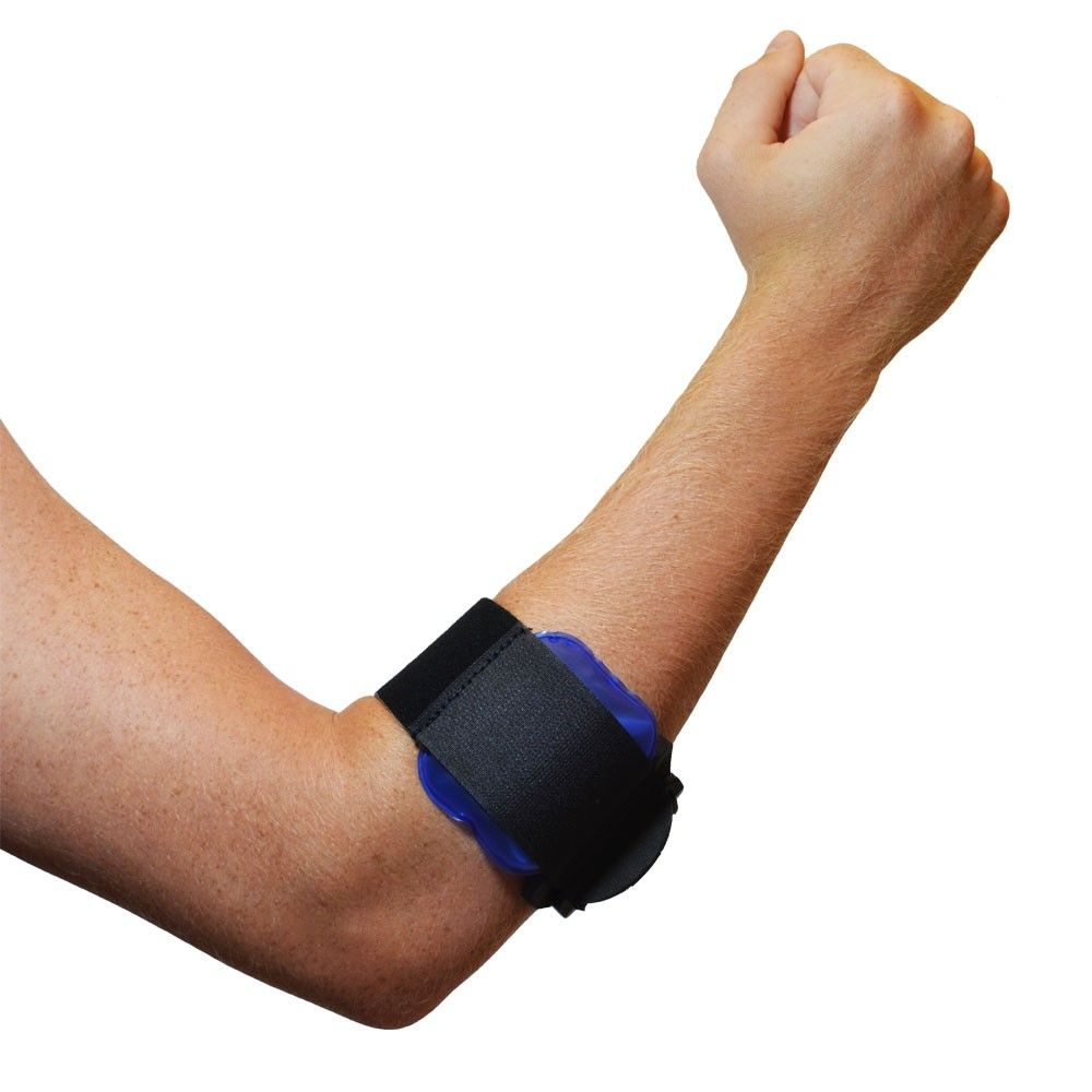 BraceAbility Tennis Elbow Cold Therapy Gel Compression