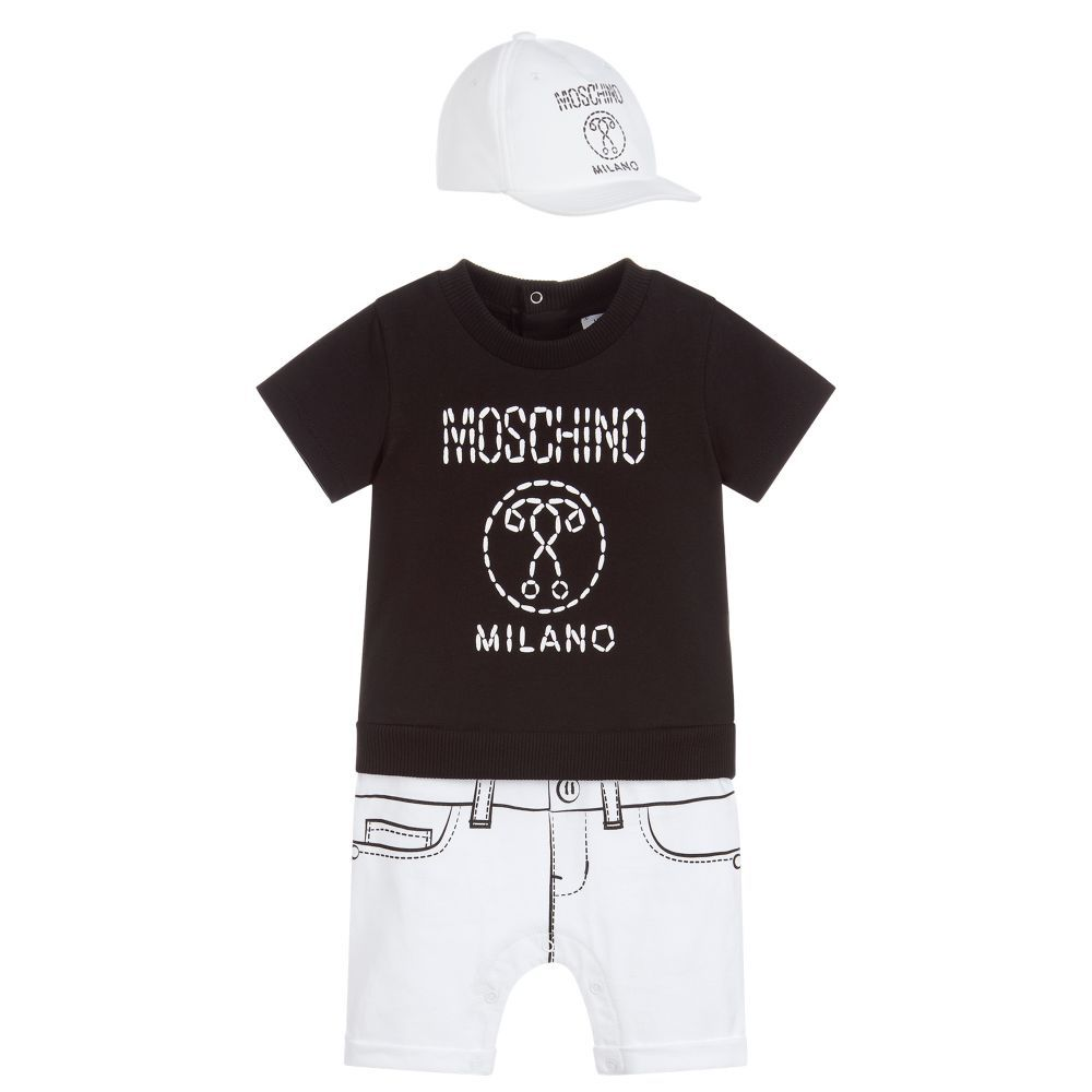 a6893e0192f Moschino Baby - Baby Boys Shortie   Hat Set