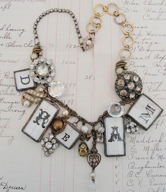 Sparkle Vintage and Soldered Necklace