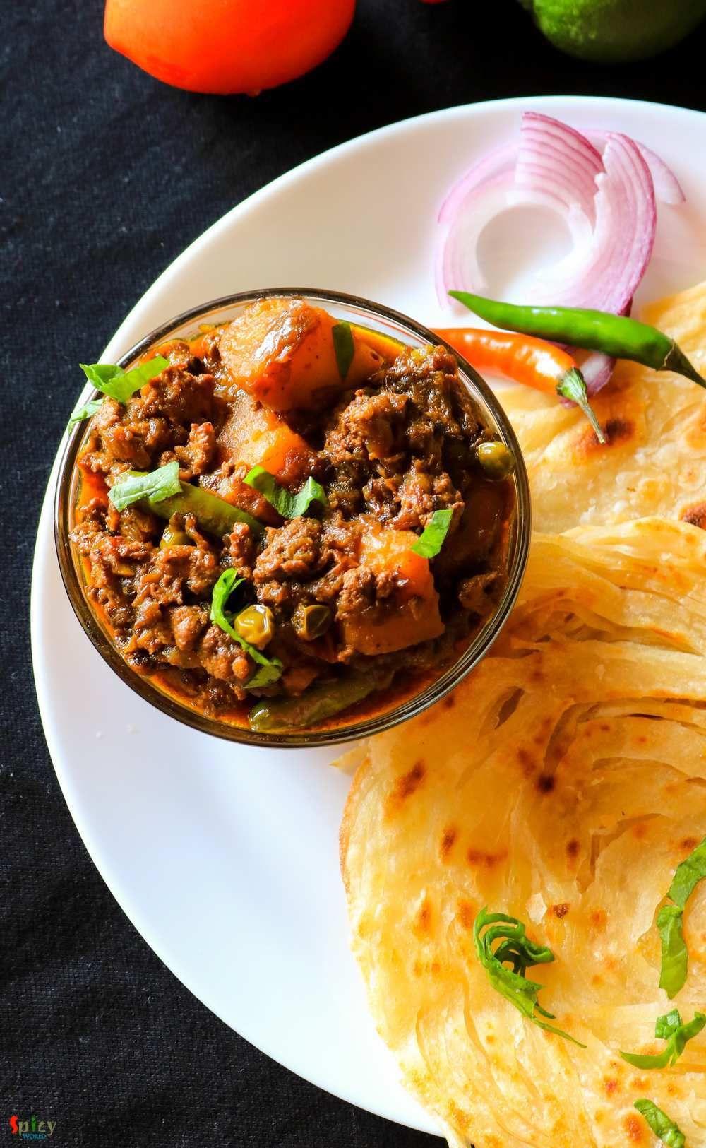 Keema Aloo / Minced Mutton Curry with Potatoes