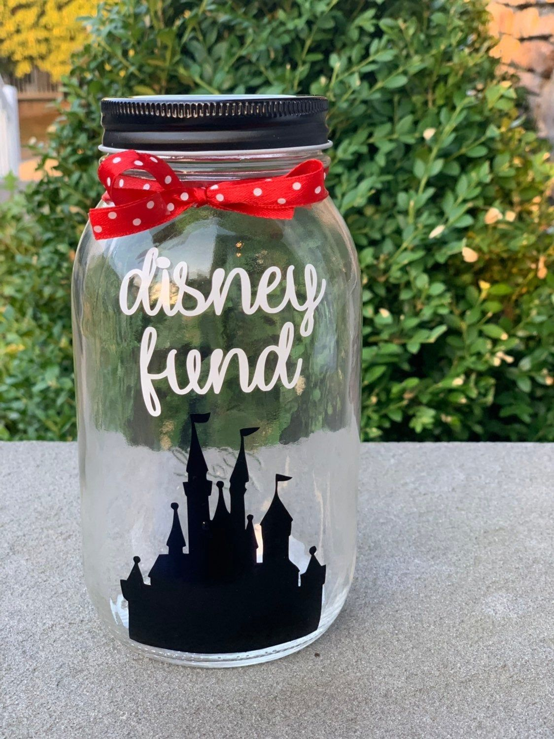 Disney Fund Mason Jar Bank