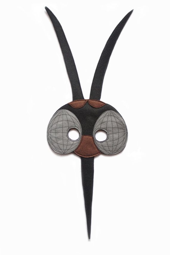 ad066393abc Animal Masks · Handmade felt Black Mosquito mask. A part of Insect costume.  Bug mask. Masks