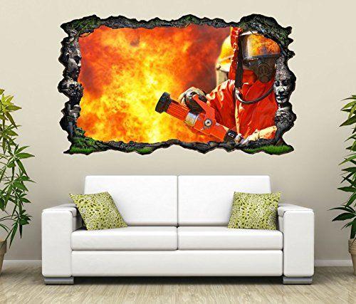 werbung | 3D Wandtattoo Feuerwehr Brand. Coole ...