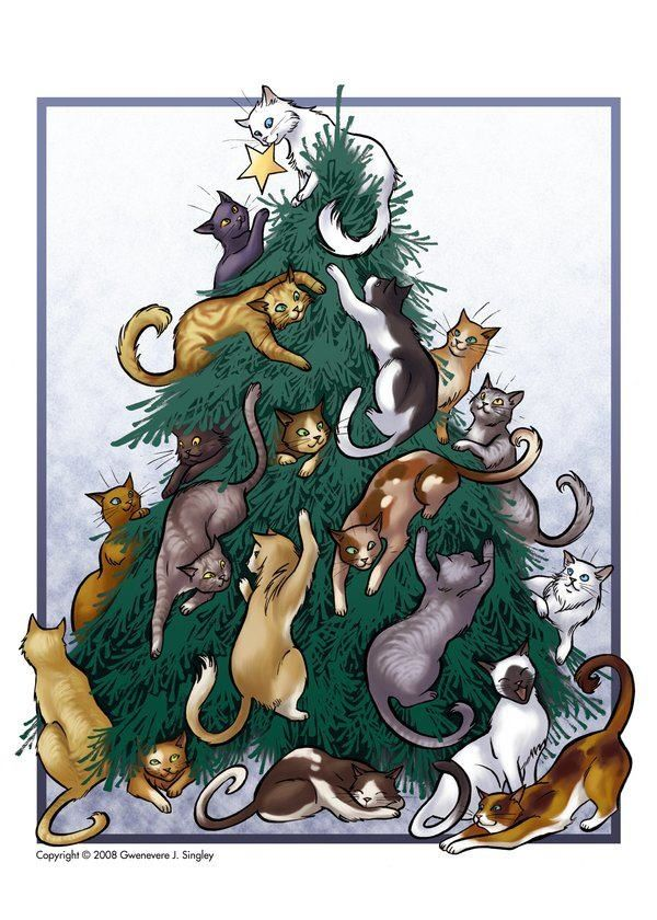 Cats Christmas Tree Cat Christmas Tree Christmas Cats Christmas Kitten