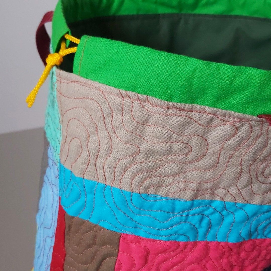 Travel knitting bag Patchwork quilted knitting tote Large ...