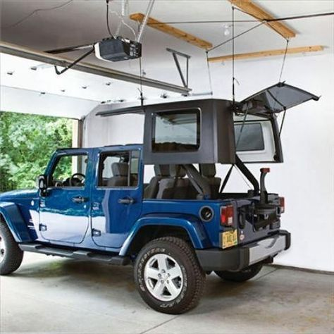 Harken Hard Top Hoist Kit For Jeep Wrangler 87 16 Yj Tj Jk Jeep World Jeep Wrangler Hard Top Jeep Accessories 4 Door Jeep Wrangler