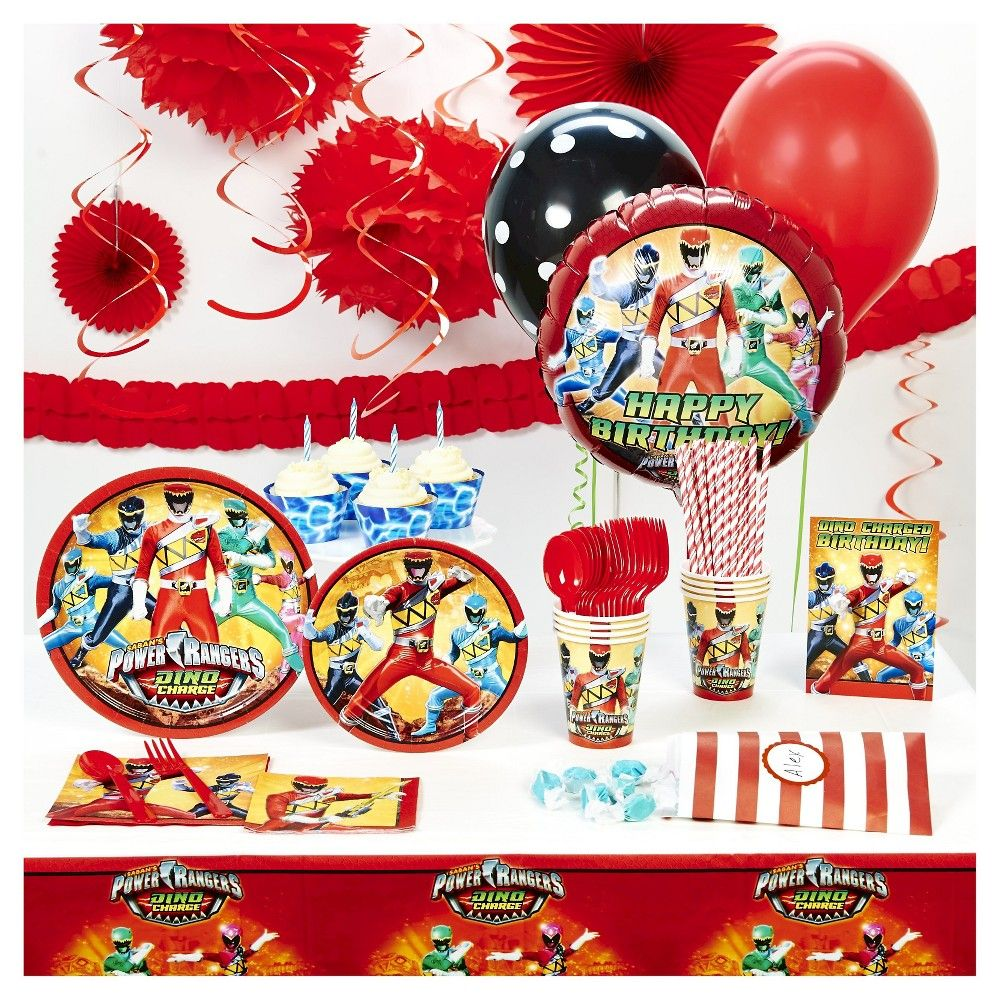Power Rangers Super Deluxe Party Kit for 16,