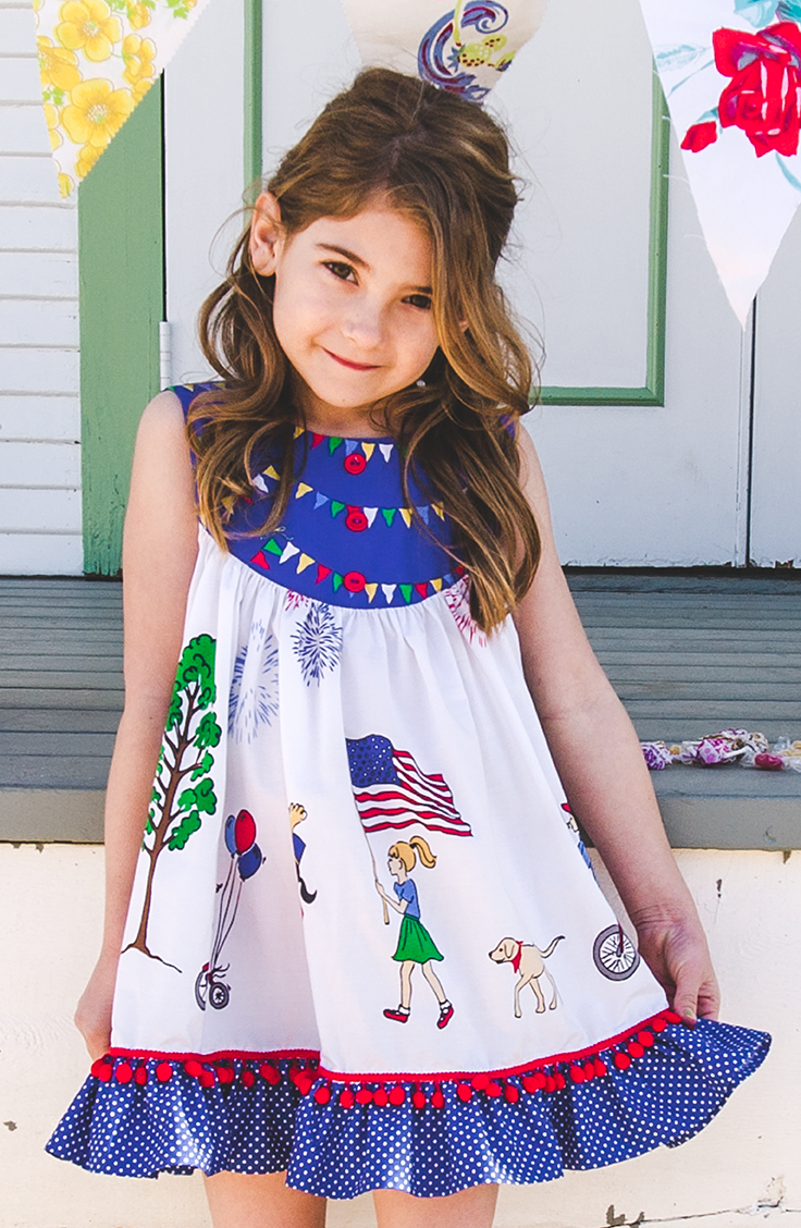 cc8ded94a16d Gigi is a free-spirited, knee skimming swing dress made for your little  sparkler!