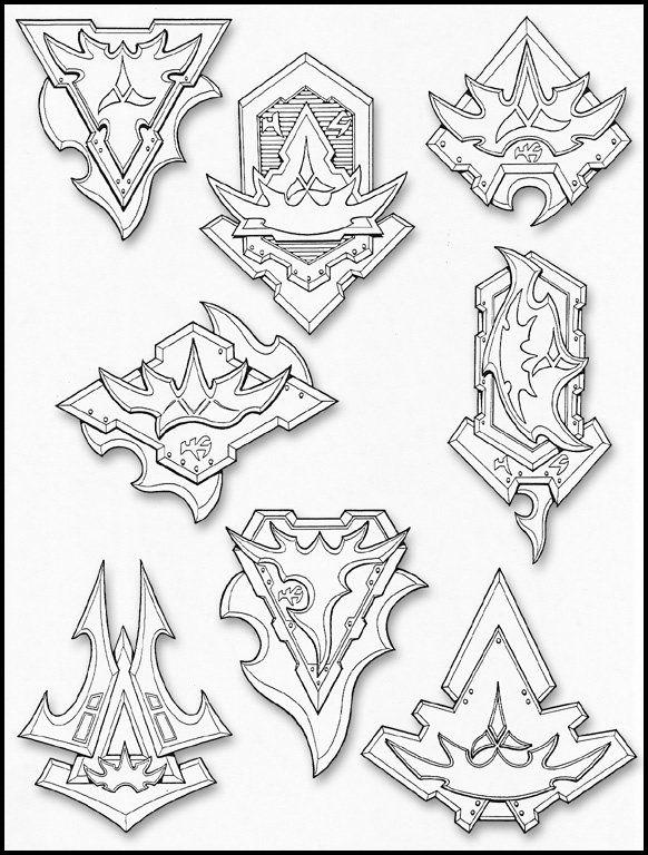 star trek klingon honor guard insignia design honor guard badge roughs klingon goodness. Black Bedroom Furniture Sets. Home Design Ideas
