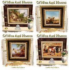 "Mod The Sims - SimSpore's ""Of Men & Horses"" Art Collection II"