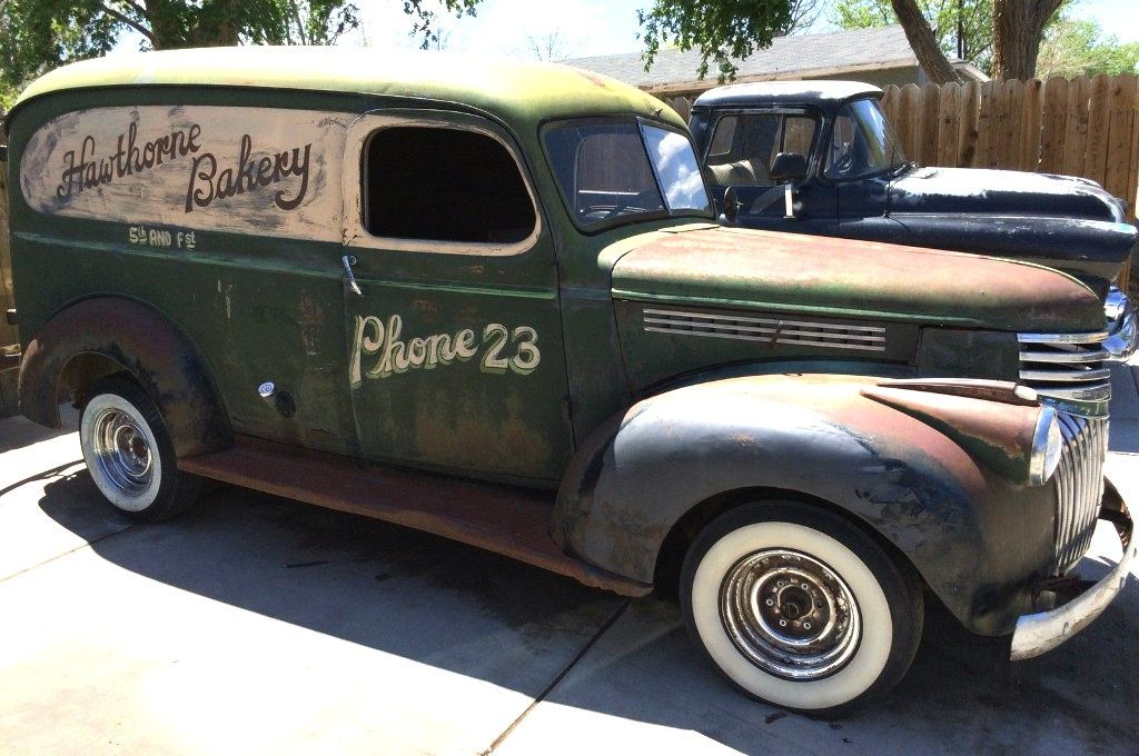 Baker's Wagon: 1946 Chevy Panel Truck - http://barnfinds.com/bakers-wagon-1946-chevy-panel-truck/