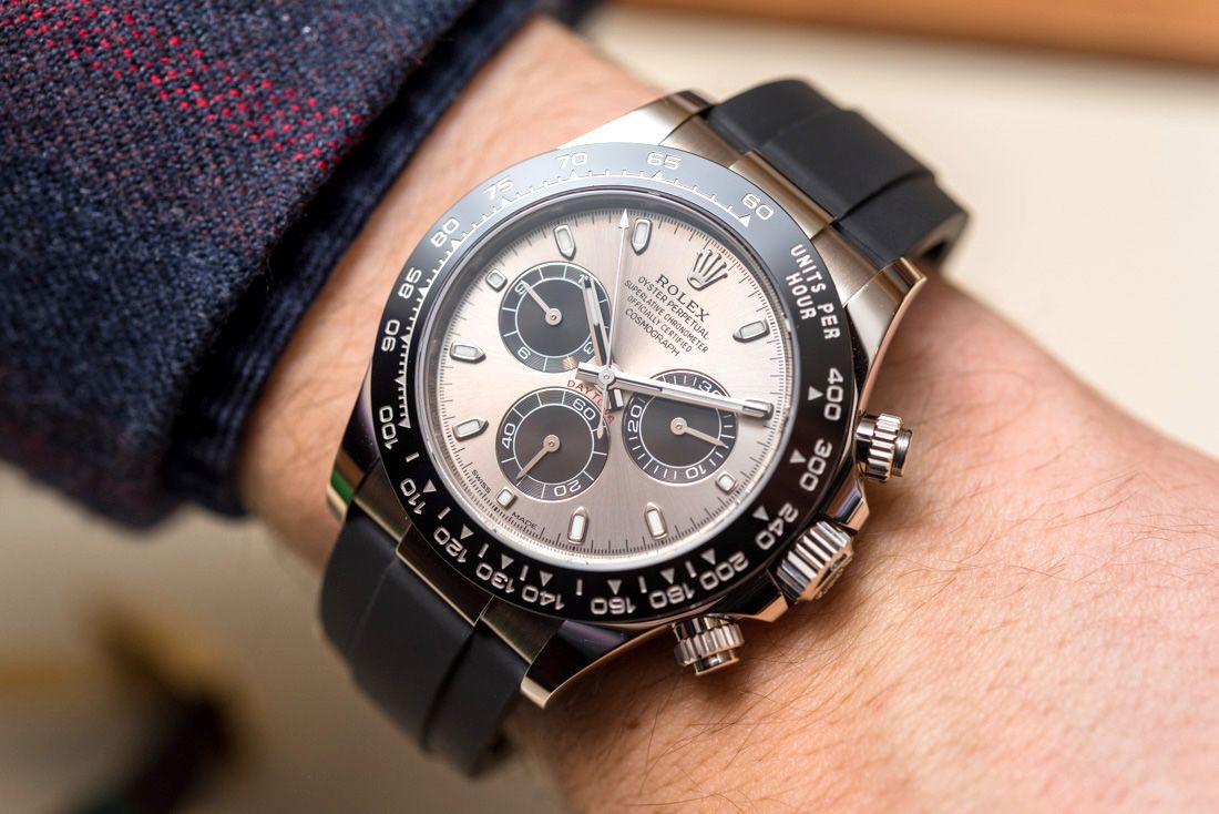 eb4c628b4b2 New Rolex Cosmograph Daytona Watches In Gold With Oysterflex Rubber Strap    Ceramic Bezel For 2017.